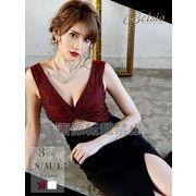 【Belsia】贅沢ビジューカットアウトロングドレス マーメイドキャバクラドレス【ベルシア】*504418