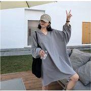 【大きいサイズL-XXL】ファッション/人気トップス♪ブラック/グレー/ブルー3色展開◆