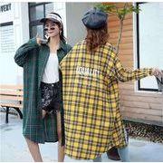 【大きいサイズL-XXL】ファッション/人気ワイシャツ♪イエロー/グリーン2色展開◆