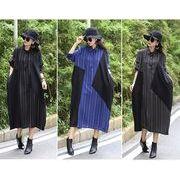 【大きいサイズL-XXL】ファッション/人気ワンピース♪ブラック/グリーン/ブルー3色展開◆