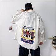 【大きいサイズM-5XL】ファッション/人気ワイシャツ♪ホワイト/ブラック2色展開◆