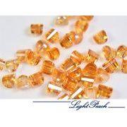 A級ガラス製 立体半円×貫通穴×オーロラ加工 小粒ガラスビーズ 1粒約4円