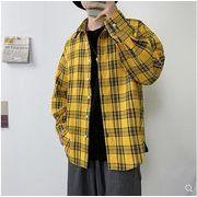 【大きいサイズM-5XL】ファッション/人気ワイシャツ♪イエロー/グリーン2色展開◆