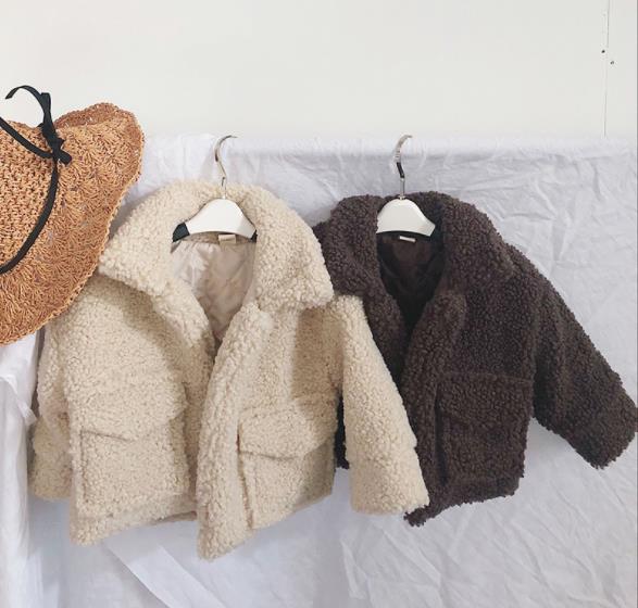 秋冬新作 フワフワコート 女の子 子供 キッズ ジャケット 80-130 6色 コート