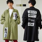 【2019秋冬新作】メンズ デコレーション スタンド BIG モッズコート / ミリタリー ジャケット