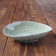 軽量楕円皿 大 ビードロ [日本製 美濃焼]