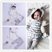 カード ホーム 欧米 外 春秋 男女 赤ちゃん 赤ちゃん 子供 ストライプス ウサギの耳