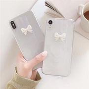 iPhone ケース リボン iPhoneXS ケース 透明 スマホケース