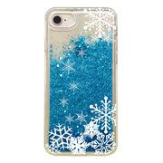 iPhone8 iPhone7 6/6S 対応 CuVery グリッター ソフト ケース 雪の結晶
