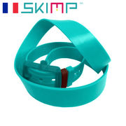 ラバーベルト  ゴルフ メンズ 乗馬 ゴム ロングサイズ SKIMP  メンズ ターコイズ
