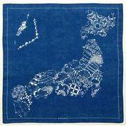 【ご紹介します!安心の日本製!青が美しい!KYOTO BLUE ハンカチ】日本地図