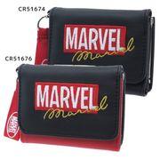 【財布:レディース】MARVEL/三つ折り財布/ボックスロゴ マーベル【51674/ブラックブラック 】