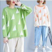 【秋冬新作】ファッションセーター♪イエロー/オレンジ2色展開◆