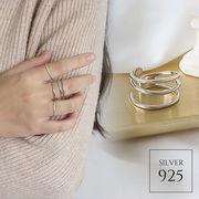 【即納】【リング】1色!シルバー925 3連デザイン オープンリング指輪 [kgf0582]