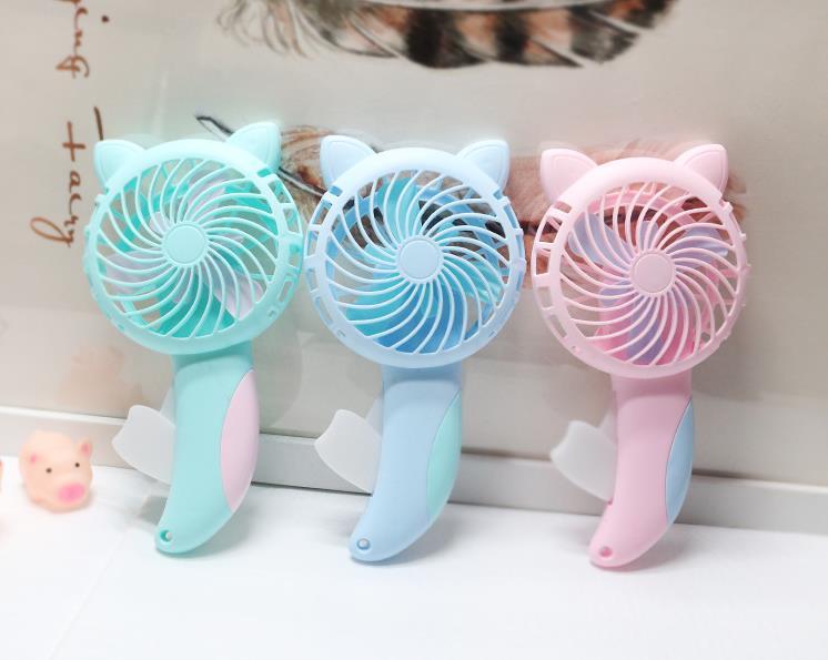 ハンディ扇風機 手持ちミニファン 可愛い 猫 手動型 ミニ扇風機 熱中症対策