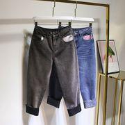 【大きいサイズL-4XL】ファッションパンツ♪ダークグレー/ブルー2色展開◆
