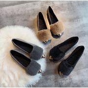 新作★サンダル★秋冬★柔らかい女靴★ぺたんこ靴★35-40★★何でも合うスリッパ毛糸