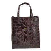 【予約販売】(11月納品)トートバッグ(シンシア)【縦長トート A4 クロコ レディース バッグ】