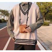 【2019秋冬新作】メンズ◆ニット トップス◆袖なし◆カジュアル◆Vネックのセーター◆3色◆M-XXL