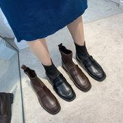 ブーツ 女ブーツ 秋冬 新しいデザイン マーティンブーツ 女性英国スタイル ローヒール