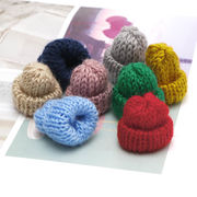 10個 ミニ帽子 糸編み 選べる9色 35*50mm DIY ピアス イヤリング アクセサリー デコパーツ