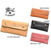 S) 【イルビゾンテ】 C0920 財布 ハーフフラップウォレット ロゴ ギフト 本革 全4色 メンズ レディース