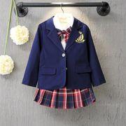 キッズジャケット 学院風 子供服 90-130 普段着 長袖 子供コート 日常用 女の子