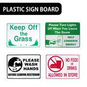 【ど定番】AMERICAN プラスティックサインボード【手を洗いましょう、飲食物の持ち込み禁止他】
