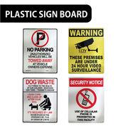 【特大サイズ】AMERICAN プラスティックサインボード【立ち入り禁止、携帯電話使用禁止、他】