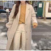 2019冬 韓国 INSスタイル ファッション カジュアル シンプル クラシック 百掛け コート 気質 カレッジ風