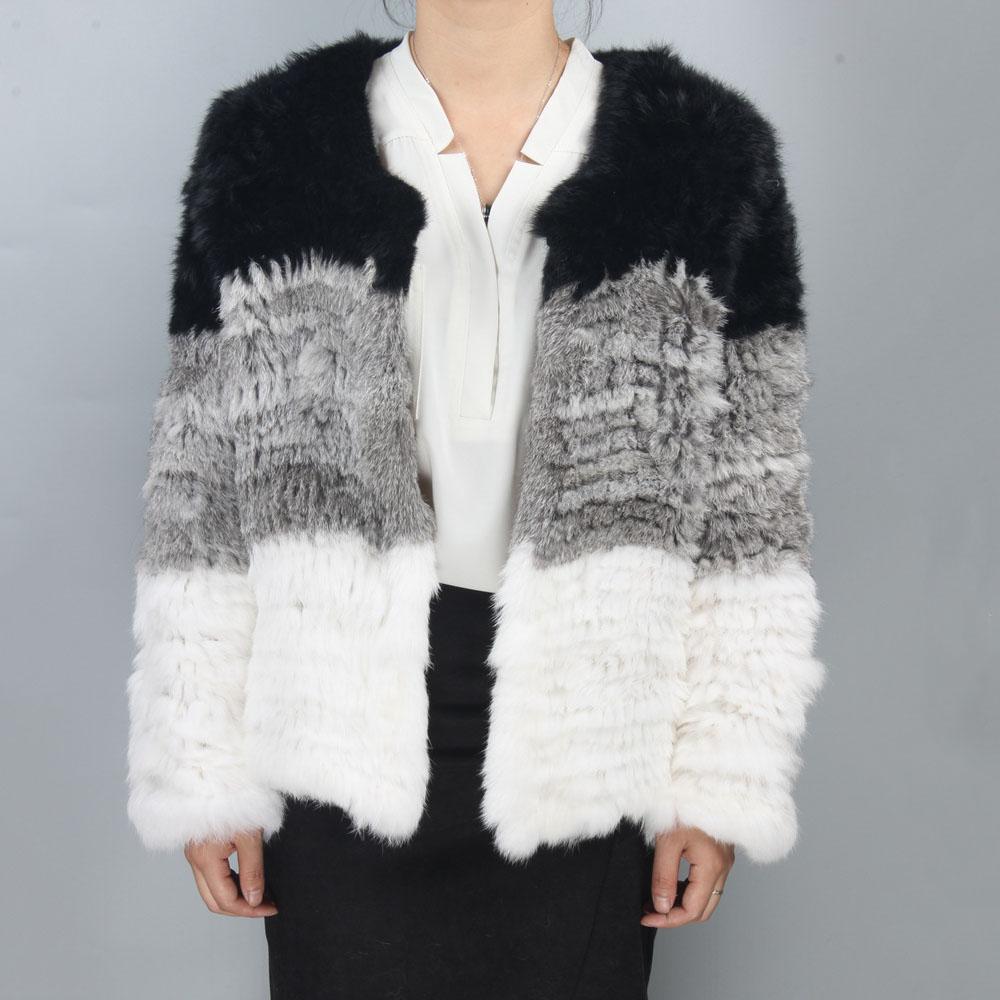激安☆秋冬あったか毛皮 knit1910★ファーコート★フワフワ ジャケット★coat1911 ラビットファー