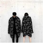 メンズファッション 不規則柄コート 男女兼用 ストリート系アウター 秋冬★