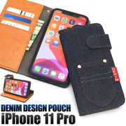 アイフォン スマホケース iphoneケース 手帳型ケース iPhone11 Pro ケース デニム ジーンズ地 スマホカバー