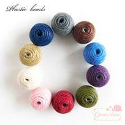 単価27.5円♪ 単色カラーの糸巻きビーズ 8個/beads699
