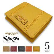 【全5色】KANSAI YAMAMOTO(ヤマモト カンサイ)リアルレザー二つ折り財布 ショート ウォレット