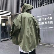 2019 秋季 新品 韓国  長袖 メンズ 日焼けどめの服 フード付き カジュアル ゆったりする シャツ トップス