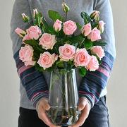 綺麗 バラの造花/ 薔薇の花束 PU保湿 リビング飾り 部屋装飾卓上用 インテリア 5色選択可