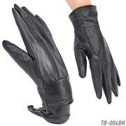 【本革メンズ手袋】 ラム皮レザーグローブ 秋冬 紳士テブクロ 革手袋 TB-004
