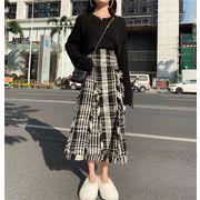 韓国ファッション スカート モノトーン スクウェア