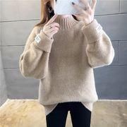 韓国ファッション ニットセーター ハイネック