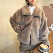 韓国ファッション もこもこジャケット コート