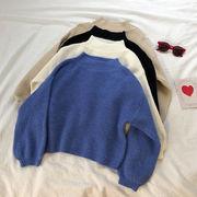 ランタンスリーブ 暖かい セーターの女性 新しいデザイン 冬 韓国風 ルース コンフォー