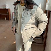 秋冬新入荷★  折りえり  つづり合わせ  韓国ファッション   綿入れ   コート