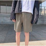メンズ 夏 ズボン ファッション ワイドパンツ 百掛け ショートパンツグリーン
