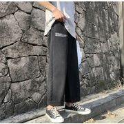 ファッション メンズ デニムズボン ジンズ  ブラック
