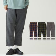 メルトンワイドイージーパンツ ワイドパンツ 冬パンツ メンズ