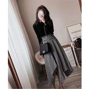 韓国ファッション 可愛 レディーズ上下2点セット セータ+スカート ツーピース スーツ