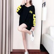 秋冬新作 731718 大きいサイズ 韓国 レディース ファッション  裹起毛  パーカー   LL-4L