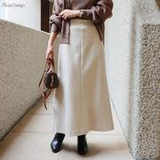 【K-10】ウール調 マーメイド フレア スカート