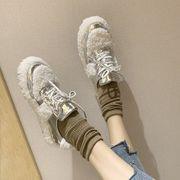 ふわふわシューズ ウインター アウトドア 新しいデザイン 韓国風 プラスベルベットの靴